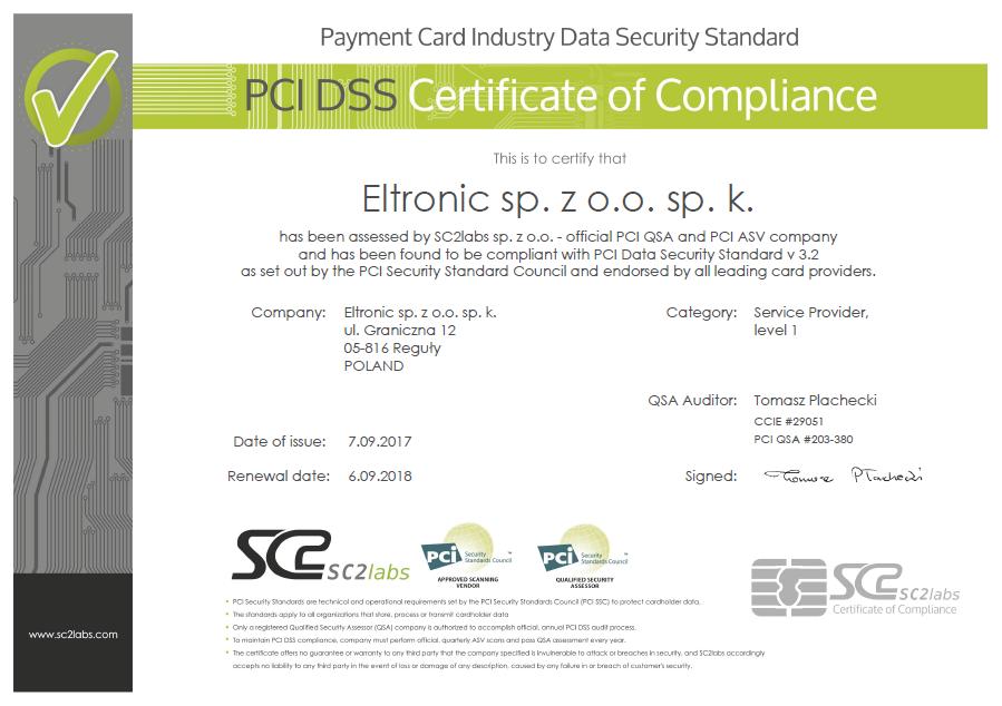 Pci Dss V32 Certification Eltronic